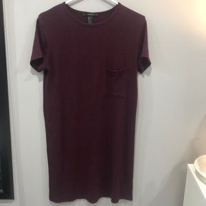 Forever21 maroon sweater T-shirt dress